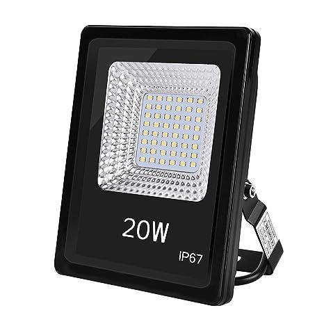 Foco LED IP67, Foco Exteriores/Interiores Foco proyector LED 20W 50W 100W Halógeno Blanco frío/Blanco cálido Floodlight Led (20W, Blanco cálido)