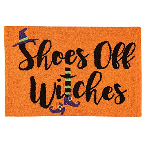 C&F Home Hooked Shoes Off Witches Halloween Parfait Rug, (Halloween Pumpkin F Off)