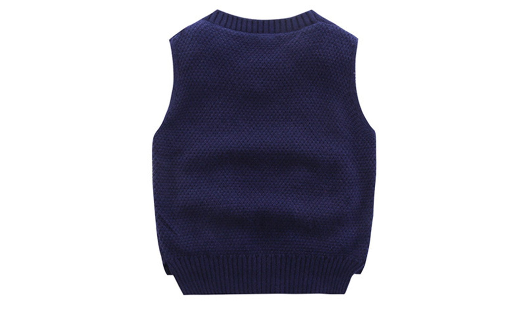 Mrsrui Boy Sweaters School Uniform Knitted Sleeveless Tank Clothes Tops by Mrsrui (Image #2)
