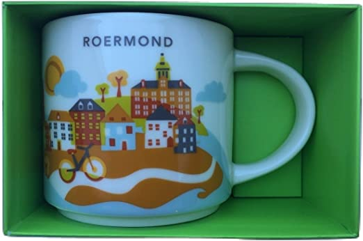 Starbucks City Mug Cup You are here Series YAH Amsterdam Netherlands 14oz NEW