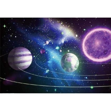 YongFoto 2,2x1,5m Vinilo Fondo de fotografía Planetas de Estrellas y Galaxias Espacio Exterior Maravillas Telón de Fondo cumpleaños Fotografía Estudio ...