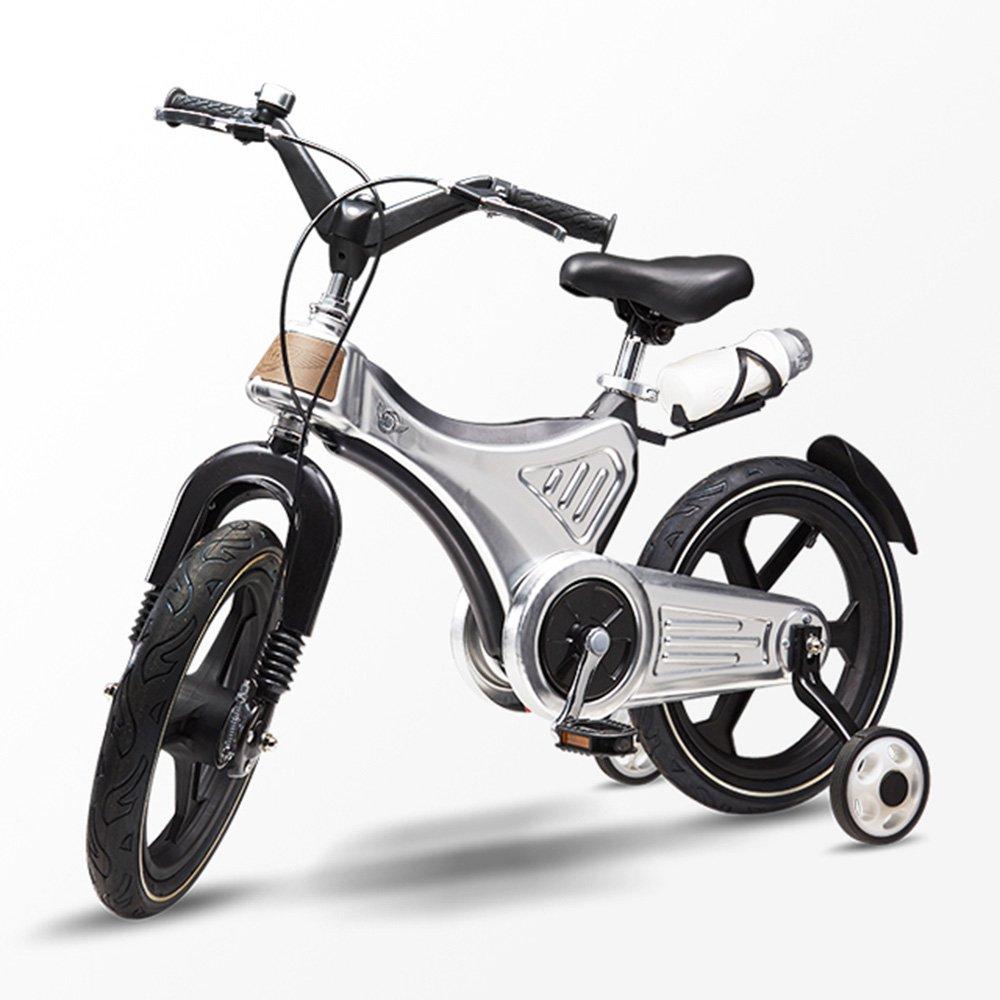 HAIZHEN マウンテンバイク 子供の自転車キッズ自転車3~7歳のための取り外し可能なスタビライザーでダッシュ 新生児 14Inch シルバー しるば゜ B07CG2J5TQ