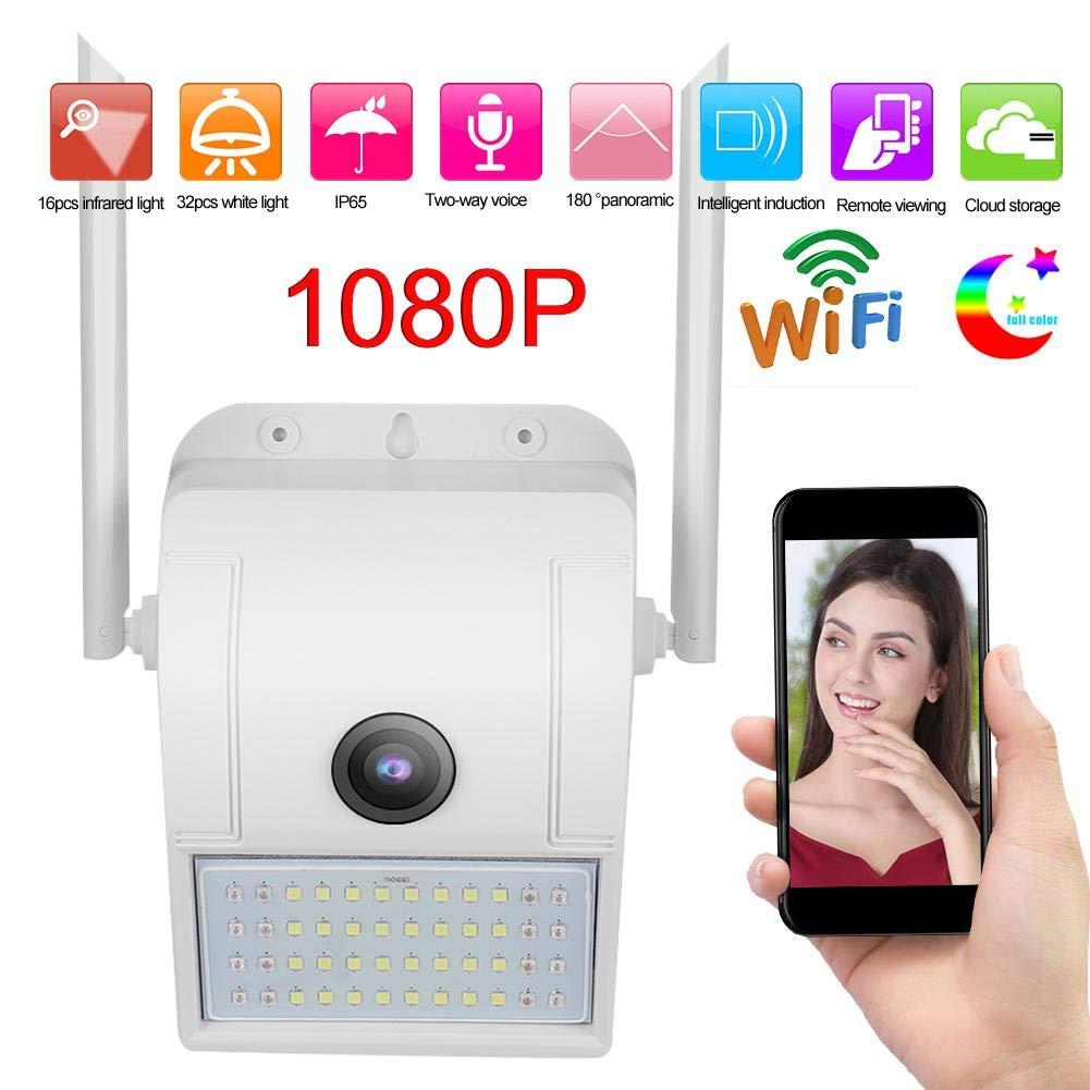 1080P WiFi Audio Floodlight Camera, IP66 Waterproof Spotlight Camera, Smart Outdoor Security Camera with Integrated…