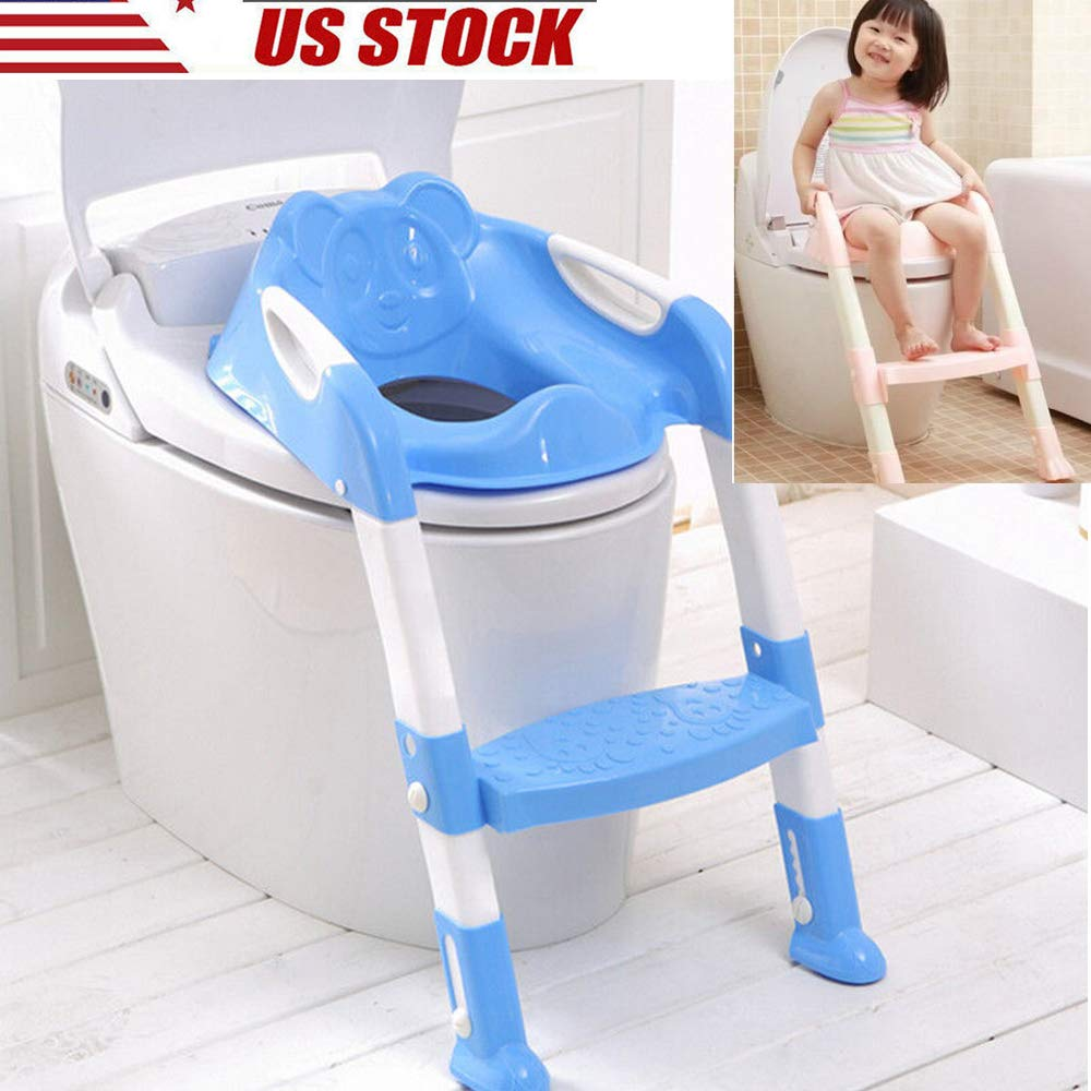 Baby Kid's Foldable Travel Portable Potty Chair Potty Training Toilet Safe Seat from USA Stock