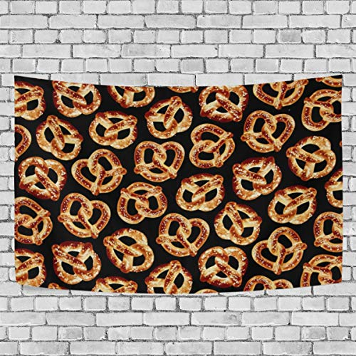 DOPKEEP Foodie Pretzels Tapestry Tapestries Decor Wall Art for Home Bedroom Living Room Dorm 90x60 Inches