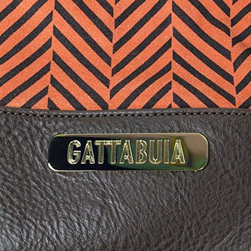 Gattabuia Sara, Borse a Secchiello Donna, Arancione (Cacao/Aragosta), Taglia Unica