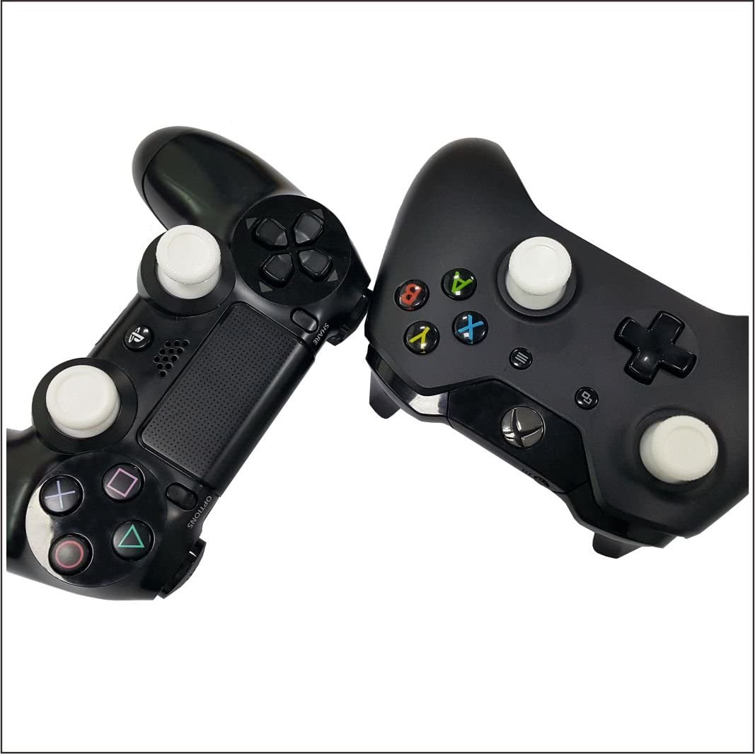 E-MODS GAMING® New 12x Removable Swap Thumbsticks Thumb Grips Joystick and 2x Plastic bottom standards Enhancements thumbsticks FOR Xbox one Elite, Xbox One, Xbox 360 Controller (WHITE)