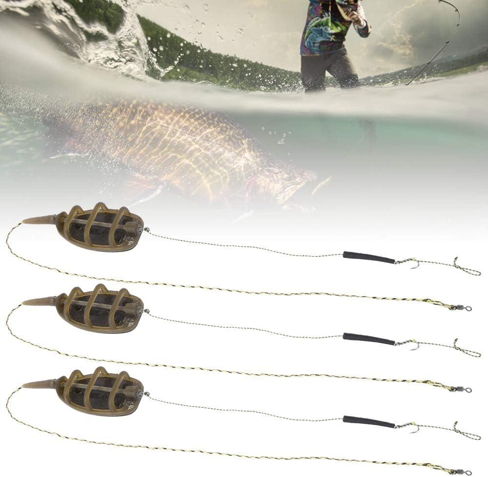 Keenso Alimentatore per Pesca 3 Pezzi Cavi per Alimentatore in Linea Stile Europeo da Pesca Set di Attrezzatura Accessori da Pesca Attrezzatura