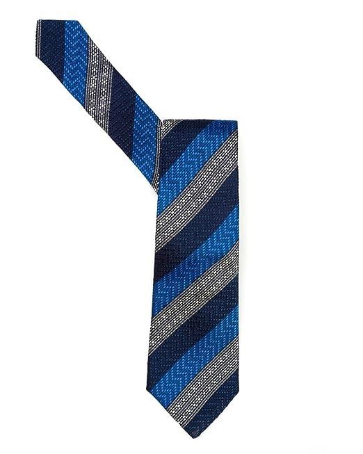 Duchamp para hombre corbata azul Morse Diagonal rayas corbata ...