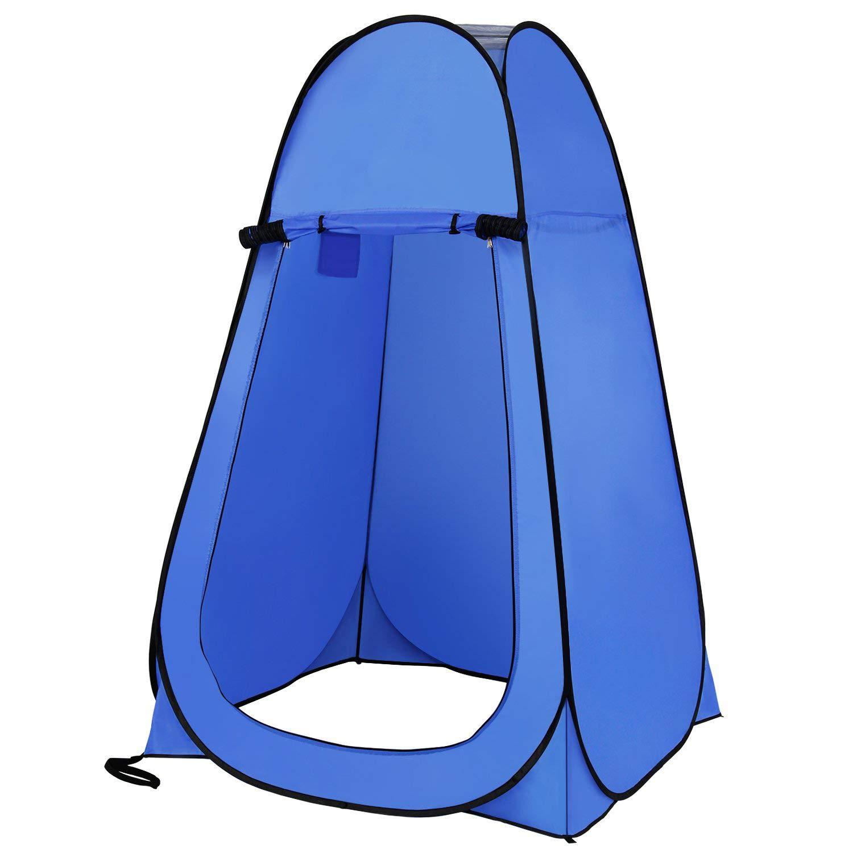 ROOKLY Pop Up Toilettenzelt Umkleidezelt Camping Duschzelt Outdoor Mobile Toilette Umkleidekabine Lager Zelt Ohne Zeltboden Und Haube Tragbar
