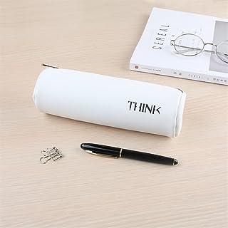 Uso dell'allievo della cancelleria della scuola Novità Cylinder Big Capacity Pencil Case Practical Stationery Forniture per studenti-Bianco WeieW