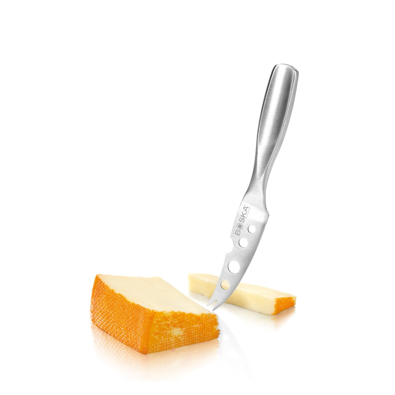Boska Holland Stainless Steel Mini Cheese Knife, Cheesy Blade with Forked Tip, 10 Year Guarantee, Monaco Collection