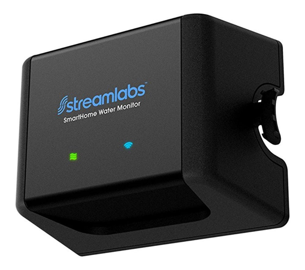 Streamlabs Smart Home Water Monitor with Wi-Fi, No Pipe-Cutting, Easy Install, NEST and ALEXA Integration, Monitors Water Usage and Leaks
