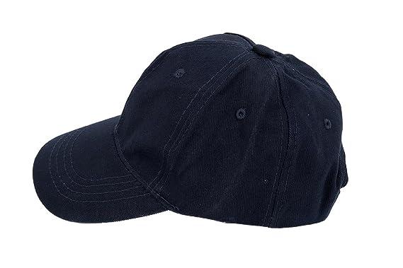 b2720377714ca SODIAL(R) Kids Plain Baseball Cap Girls Boys Junior Childrens Hat  Summer-Navy blue  Amazon.co.uk  Clothing