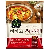 Korean Bibigo Pre-made Packaged Tofu Kimchi/Soybean Paste Soup (Tofu Kimchi Soup, 3 Pack)