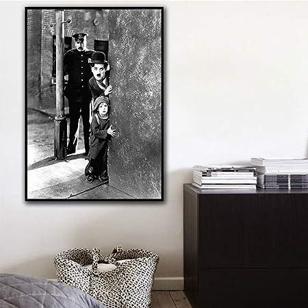 Rtckf Affiche D Art Film Noir Et Blanc Hd Toile De Mur Impression
