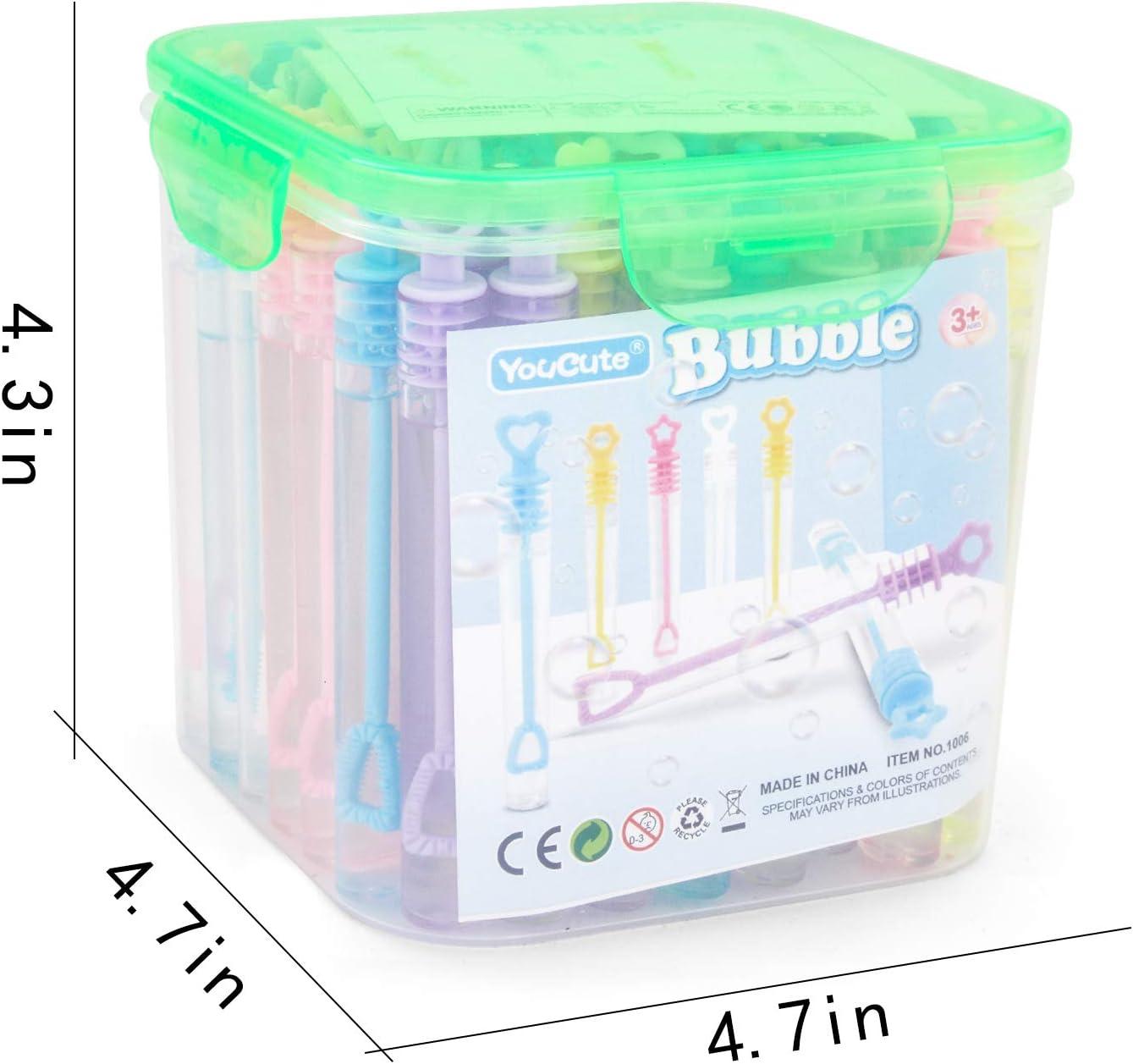 Amazon.com: YouCute Mini Varita de burbujas, 70 unidades ...
