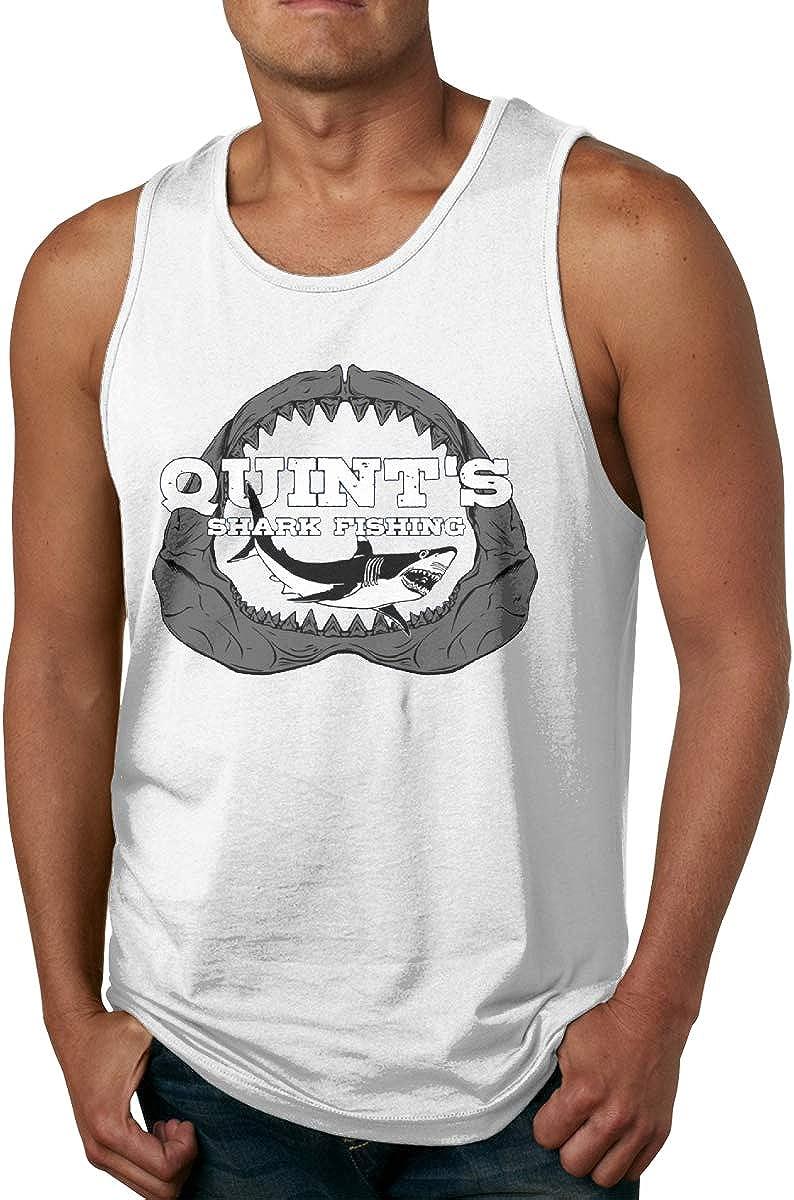VANMASS Men's Tank Top Quint's Shark Fishing Sleeveless T Shirts