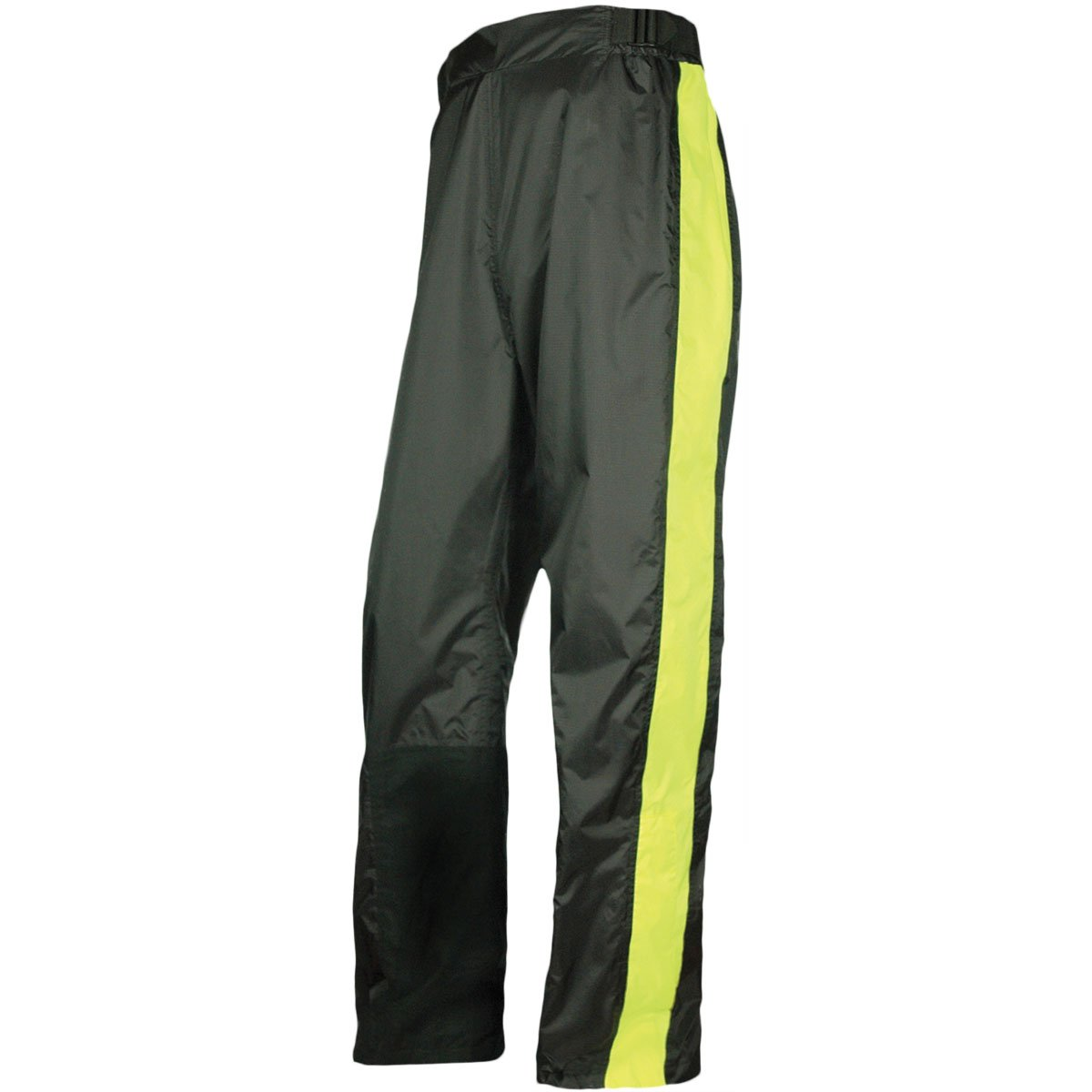 Olympia Horizon Adult Rain Pant Street Motorcycle Rain Suit - Black/Neon Yellow/X-Large/2X-Large