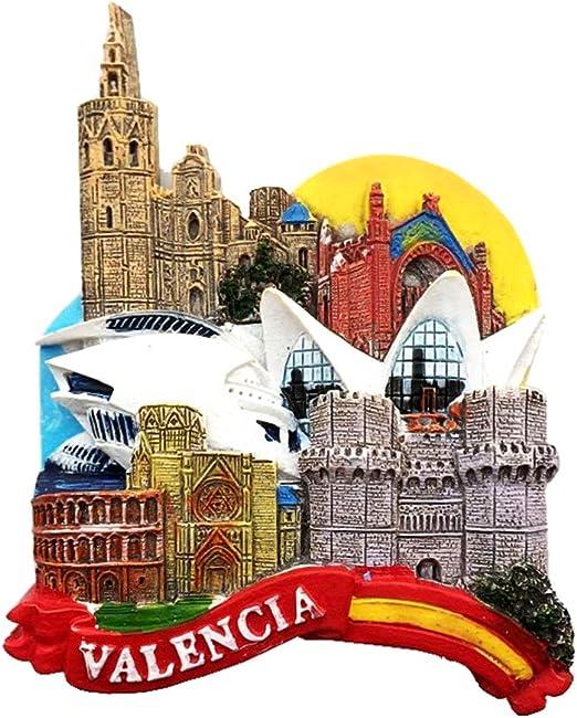 Weekinglo Souvenir Imán de Nevera Ciencia y Arte Ciudad Valencia ...