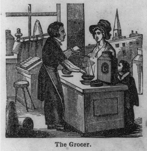 Photo: The Grocer,Customer,City View,1847,Edward W Miller
