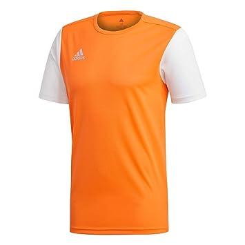 new style 66b4c c58c4 adidas ESTRO 19 JSY T- T-Shirt Homme, Solar Orange, FR (