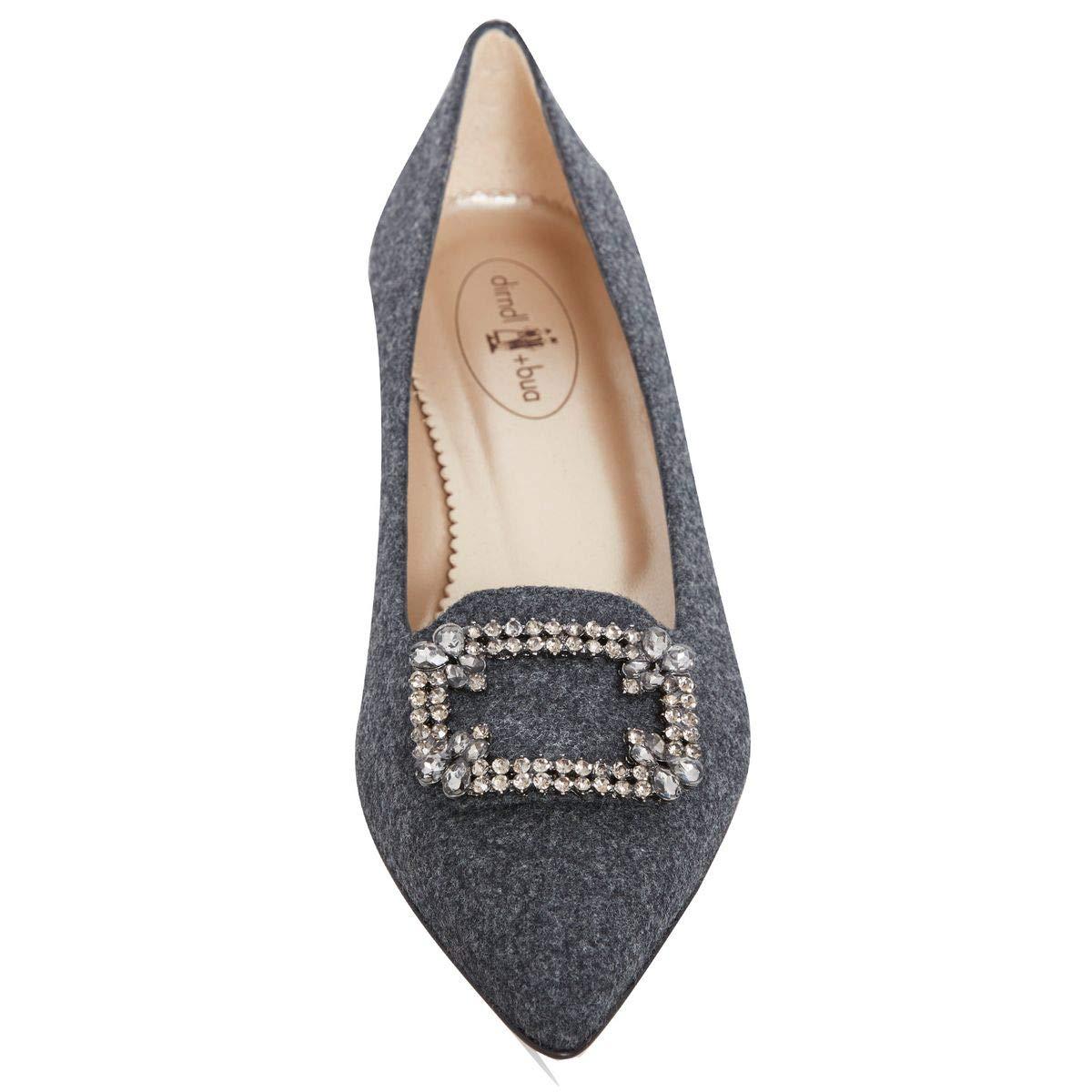 e5bbaec240751b dirndl + bua Damen Dirndl-Schuhe Ballerinas Sabine in Grau Trachten-Schuhe:  Amazon.de: Schuhe & Handtaschen