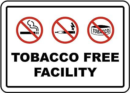 Amazon.com: Señal de seguridad de vinilo adhesivo sin tabaco ...