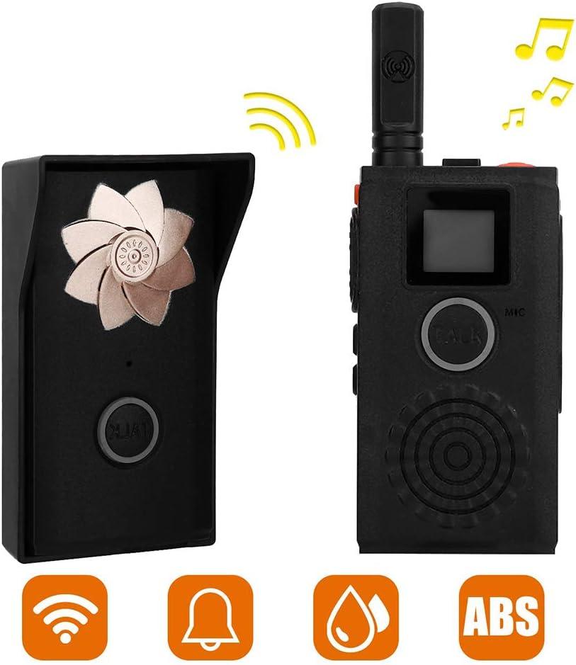 MINI Walkie Talkie Wireless Intercom Outdoor Indoor Walkie-Talkie Doorbell Rechargeable Wireless Intercom System Security Intercom System for Home or Office(US Plug)