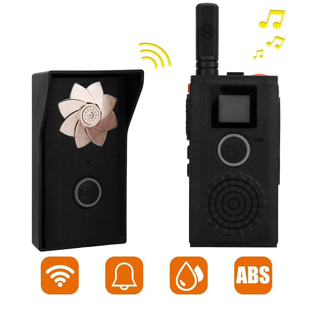 US Plug MINI Walkie Talkie Wireless Intercom Outdoor Indoor Walkie-Talkie Doorbell Rechargeable Wireless Intercom System Security Intercom System for Home or Office