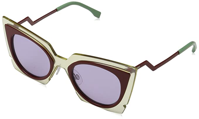 Fendi Damen Sonnenbrille FF 0117/S Y4 IC5, Beige (Beired Brgnd/Lilac), 49