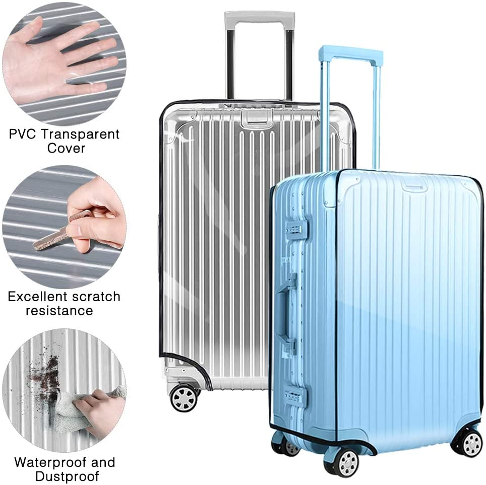 Luggage Cover 30 inch Jestar PVC Baggage Cover Suitcase Protective Cover Fits Most 20242830 Suitcase 30 53cm L x 34cm W x 72cm H