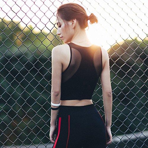 Chaleco De La Aptitud De Aeróbicos Sujetador Deportivo Yoga Correr De Las Mujeres Black