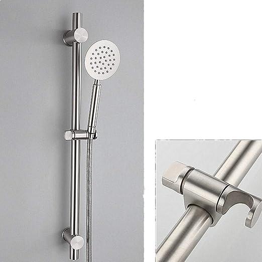 Brushed Nickel Stainless Steel Metal Bathroom Shower Sliding Bar Shower Holder