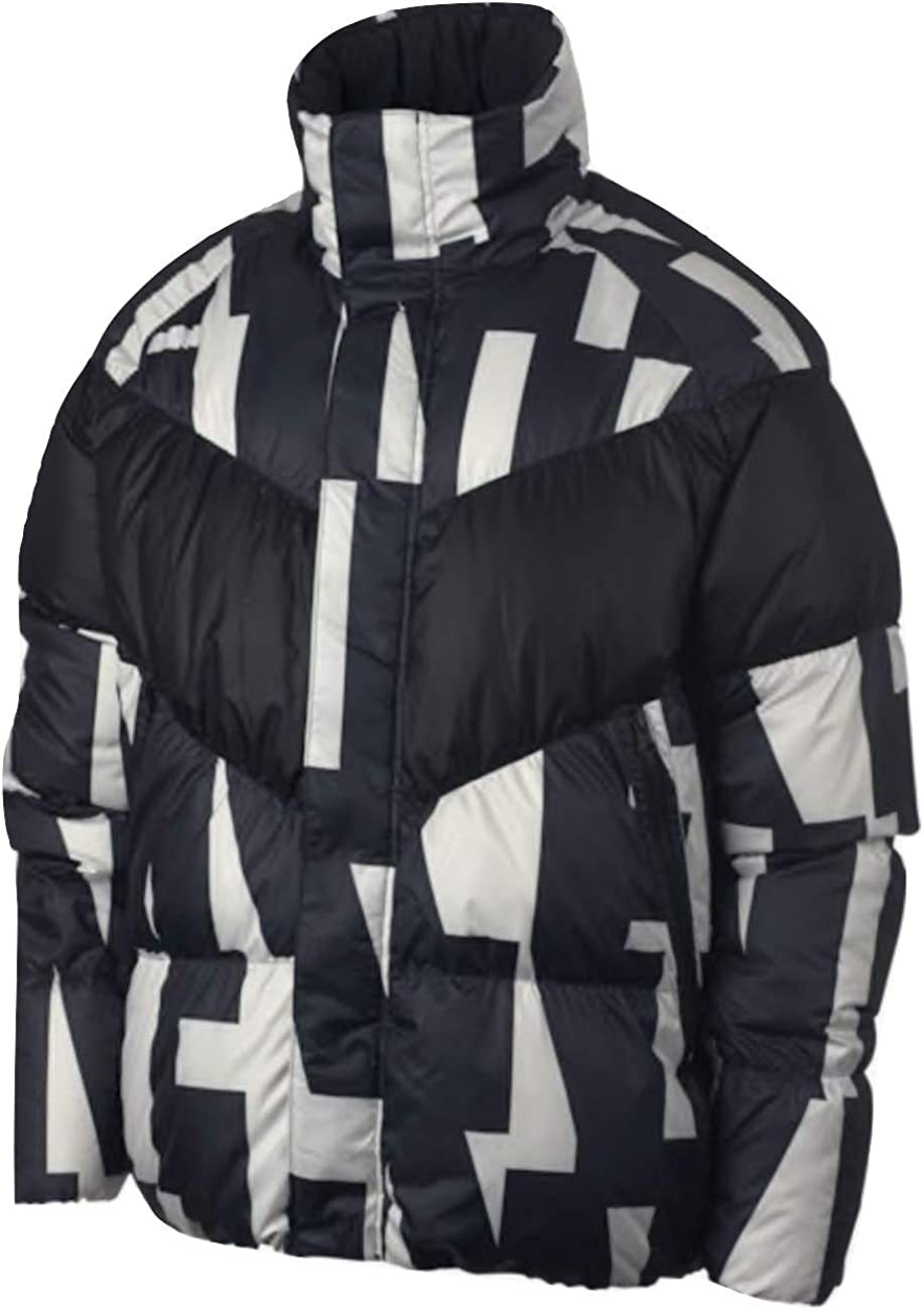 : Nike Mens Down Fill AOP Jacket (XX Large) Black