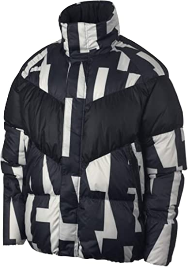 Revelar conjunción Series de tiempo  Amazon.com: Nike - Chaqueta de plumón para hombre, color negro y blanco,  XXL: Clothing