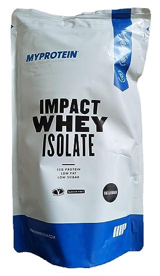 MyProtein Impact Whey Isolate Proteína de Suero - 1000 gr: Amazon.es: Salud y cuidado personal