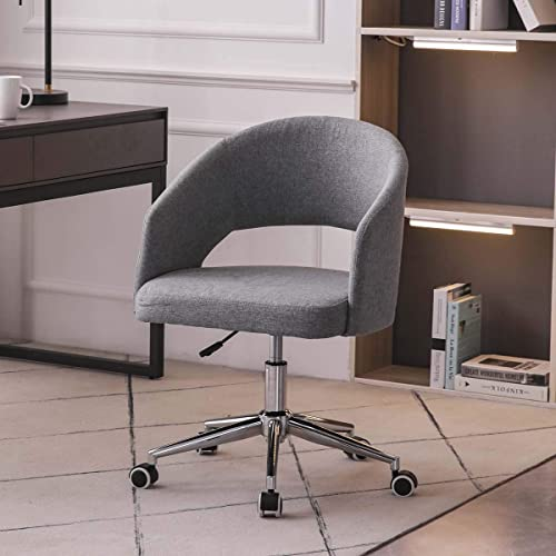 KERDOM Swivel Linen Vanity Chair