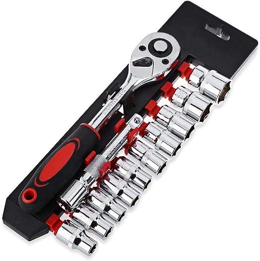 Juego de llaves y casquillos 1/4 pulgadas Socket Set Llave de ...