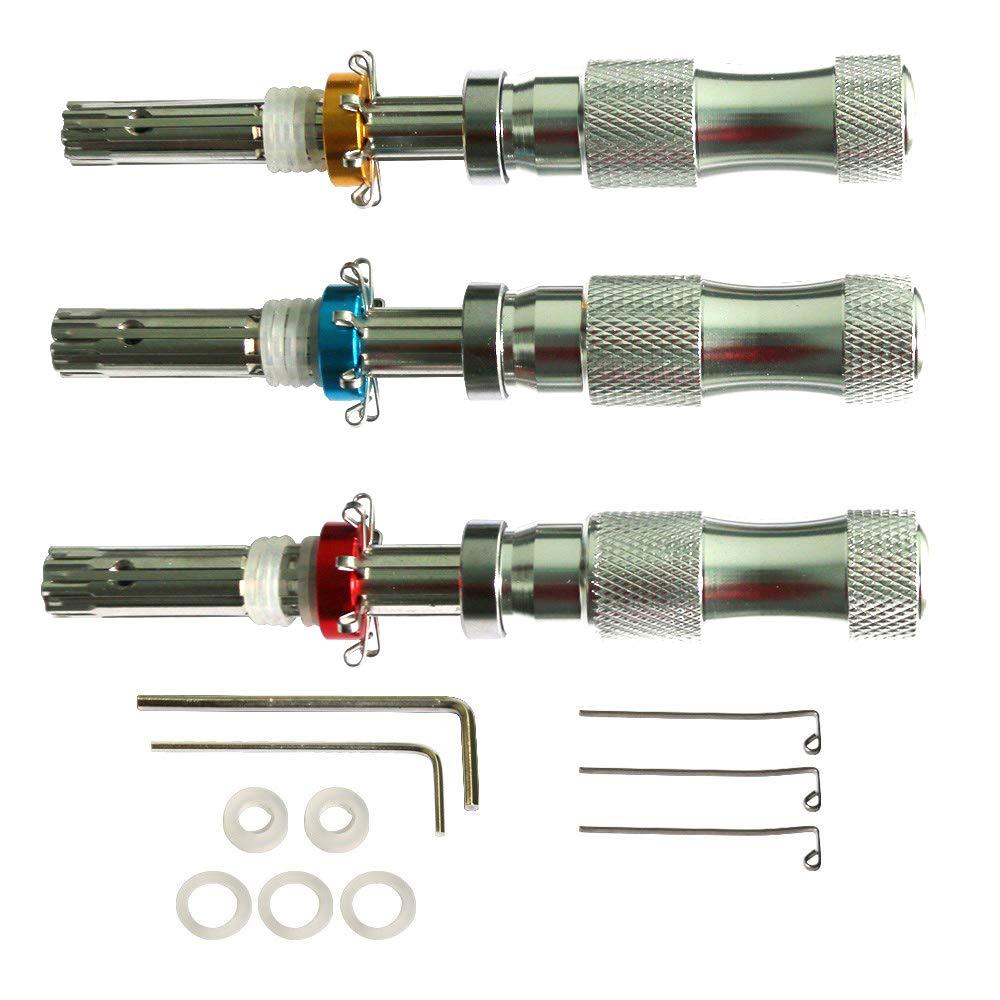 Set di 3 grimaldelli tubolari in rame regalo per fabbri e principianti 7 mm, 7,5 mm, 7,8 mm Loboo Idea con carta di credito stile fabbro