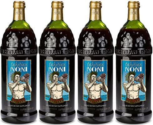 The Original Authentic TAHITIAN NONI Juice by Morinda (4PK Case), 1 liter bottles