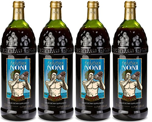 The Original Authentic TAHITIAN NONI Juice by Morinda (4PK Case) by Tahitian Noni