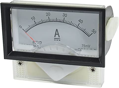 DC 0-50mA DC 0-50mA Rectangle Analog Panel Ammeter for Auto Circuit Or Other Voltage Measurement Devices Amperemeter Tester Gauge
