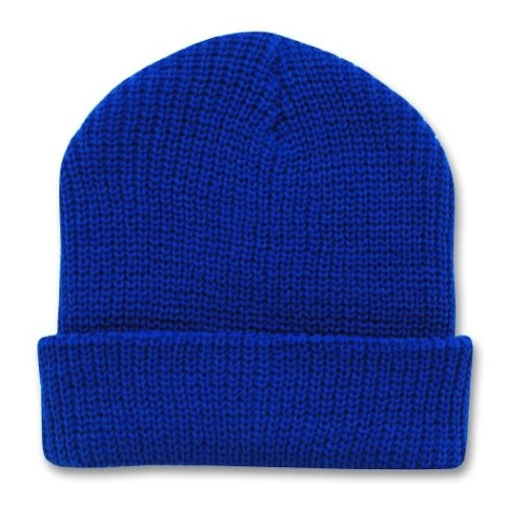 a037ba3e440347 Decky (12 Pack) 12 Inch Long Knit Watch Cap Beanie (One Size, Royal Blue)  at Amazon Men's Clothing store: