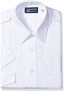 7c489a9fd87 Van Heusen Mens Dress Shirts Short Sleeve Pilot Shirt Solid Spread Collar