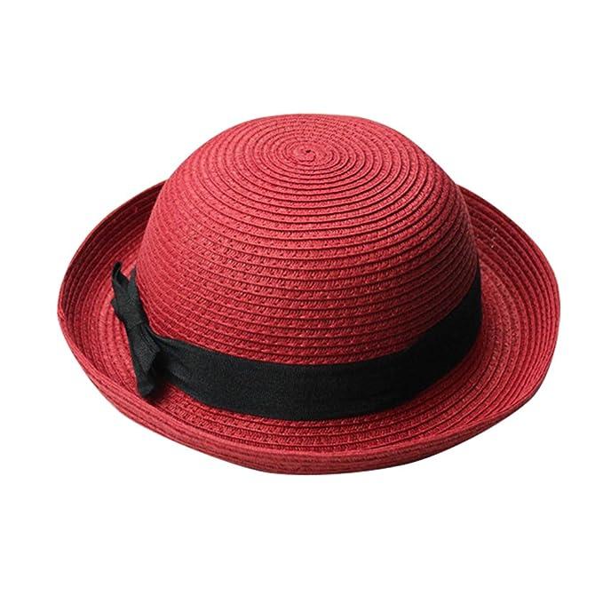 Yuncai Donne Cupola Estivo Cappelli di Paglia Bombetta Cappello della  Spiaggia  Amazon.it  Abbigliamento 5b4c1c6bccfb