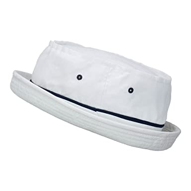 074a6bcd8c6 Amazon.com  Big Size Roll Up Bucket Hat - White With Navy (For Big ...