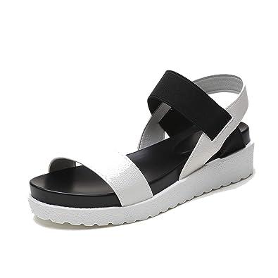3ba8c81f8903 Women Sandals Summer Shoes Peep-Toe Slip On Flat Sandals for Woman Roman  Style Sandal