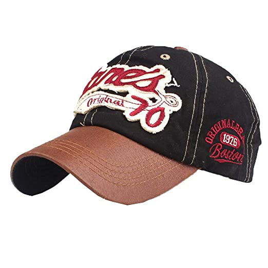 dc72af47899e0 Unisex Retro Washed Baseball Cap Embroidered Letter Denim Hat Adjustable  Trucker Hats Fashion Outdoor Distressed Cap
