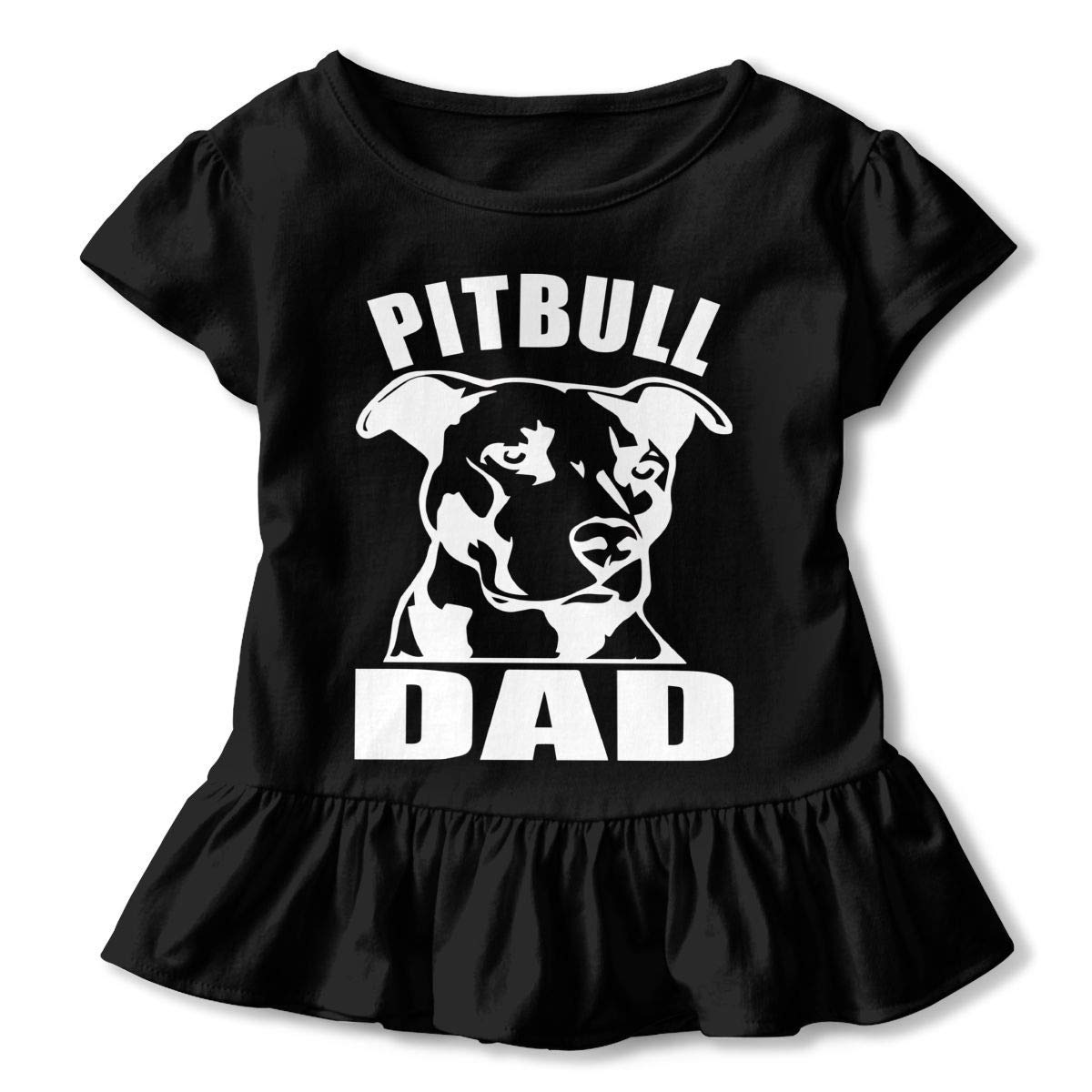 Cute Tunic Tops with Falbala PMsunglasses Short-Sleeve Pitbull DAD T-Shirts for Children 2-6T